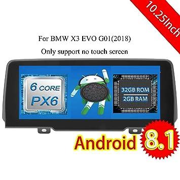 ROADYAKO 10.25 Pulgadas Android 8.1 Auto Estéreo para BMW X3 EVO G01 2018 Radio CD Estéreo Navegación GPS 3G WiFi Enlace de Espejo RDS FM Am Bluetooth No ...