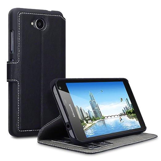 52 opinioni per Lumia 650 Case, Terrapin Cover di Pelle con Funzione di Appoggio Posteriore per
