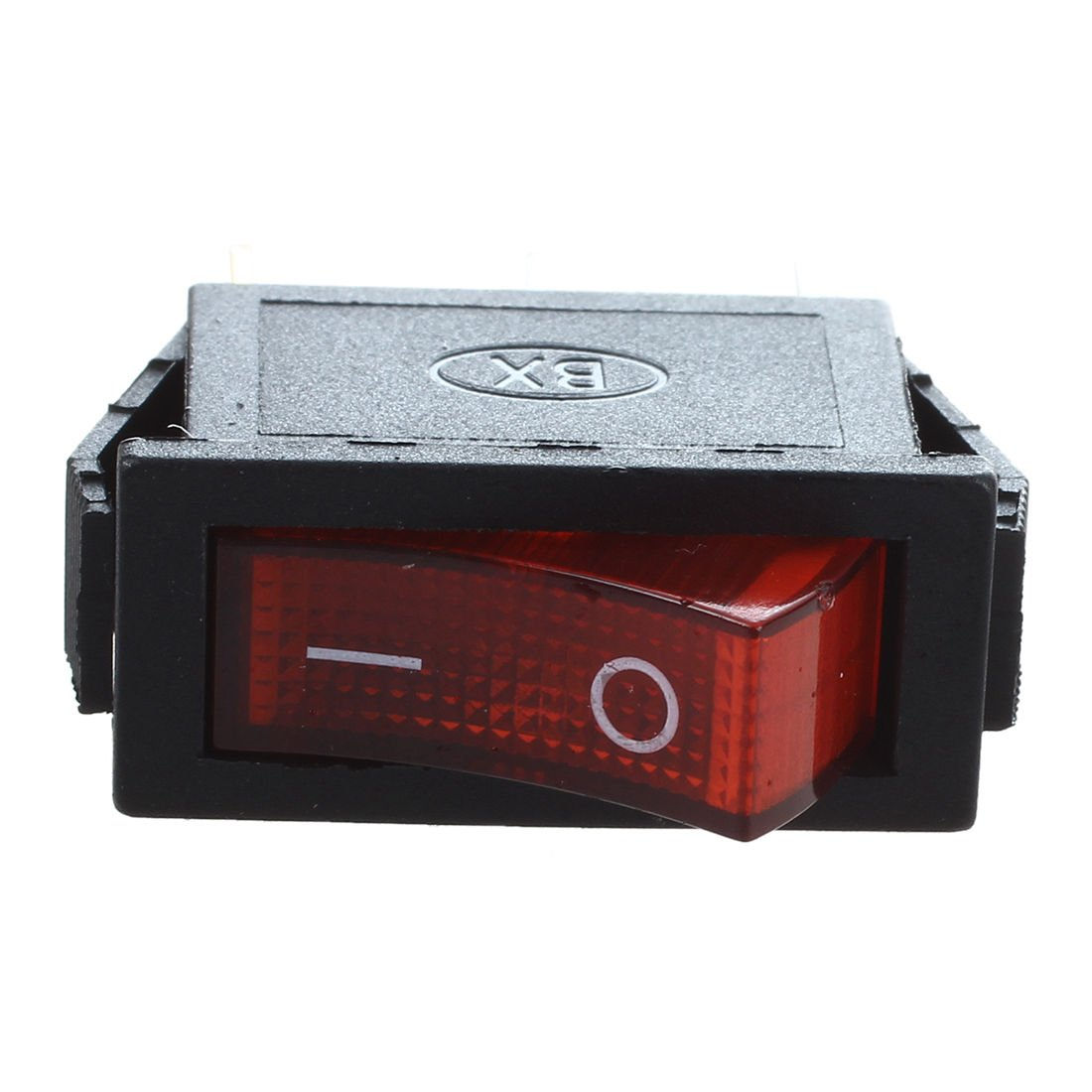 Nrpfell Interrupteur a bascule ON OFF Lumineux Bipolaire 28x10mm 250V 15A ROUGE 3 Bornes
