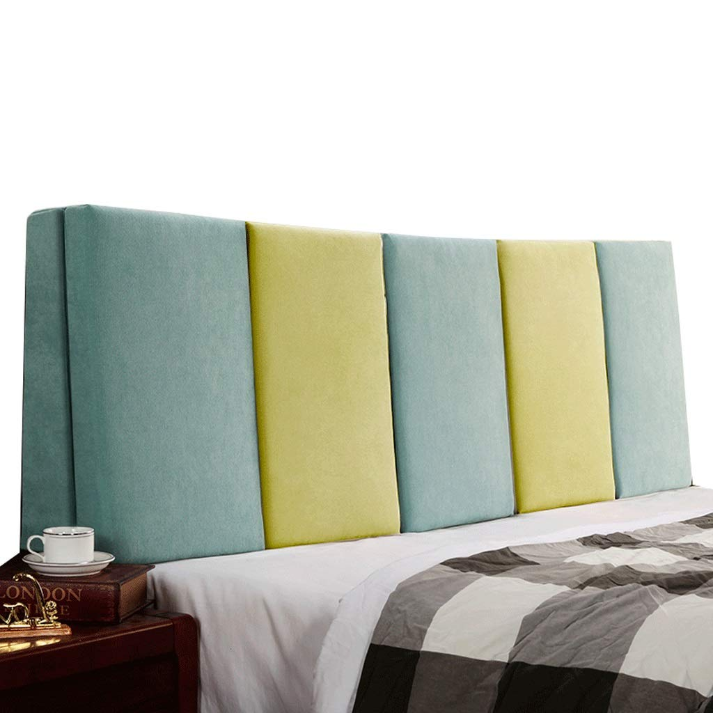 【メーカー直売】 ベッドサイド サイズ ダブルベッド背もたれクッションヘッドボードソファ張りの柔らかい枕腰椎パッド取り外し可能、7色、6サイズ Gray+Beige, (色 : Gray+Beige, さいず サイズ さいず : 160cm) B07RBRPKKJ 180cm|Blue+Green Blue+Green 180cm, Club Take:4baeee05 --- build-home.itmediagroup.ru