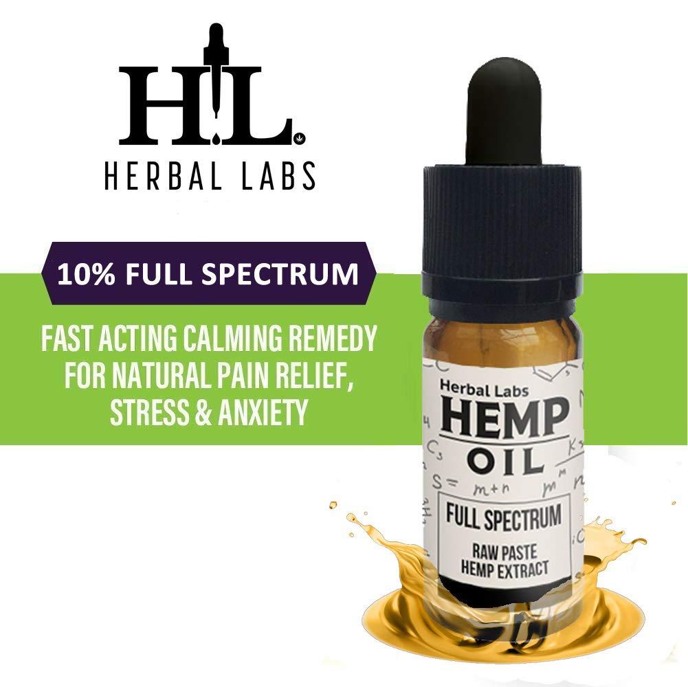 Pure Organic Hemp Oil Drops Full Spectrum Raw Paste Hemp Extract 10% 1000mg  Natural Ingredients