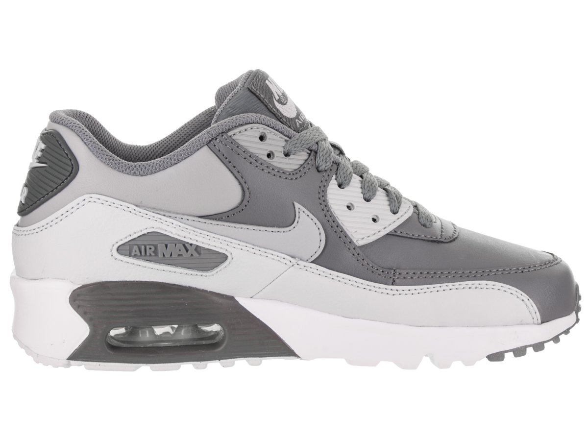 NIKE Kids Air Max 90 LTR (GS) Cool Grey/Wolf Grey Running Shoe 6 Kids US