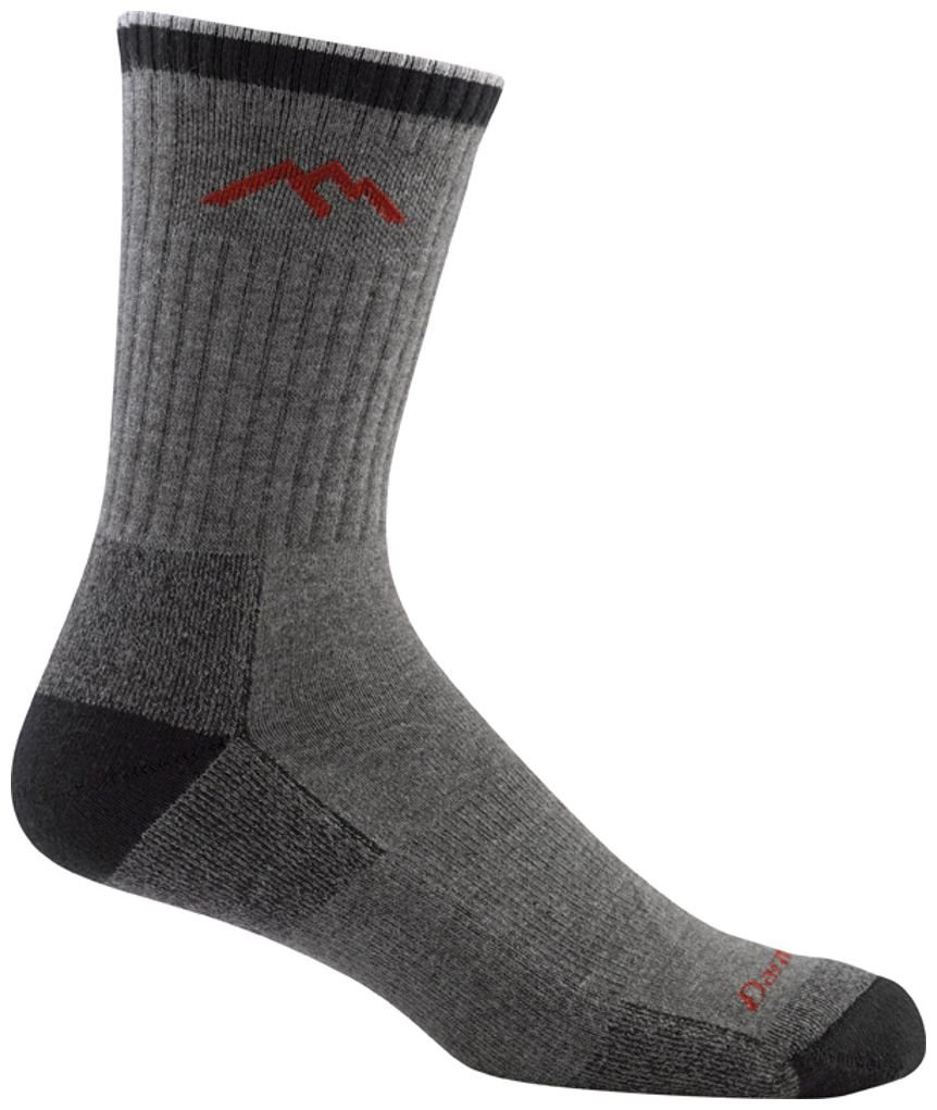 Darn Tough Merino Wool Coolmax Micro Crew Cushion Socks - Men's Gray/Black Medium by Darn Tough