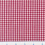 Kaufman 1/8in Carolina Gingham Red Fabric By The Yard