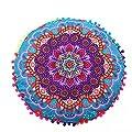 Coohole Indian Mandala Floor Pillows Case Round Bohemian Multicolor Cushion Pillows Cover Case Cushions