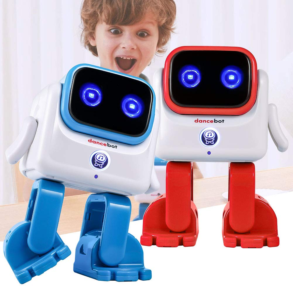ECHEERS Dance Robot Toys for Kids, Boys and Girls, Educational Music Dancing Robot Kids Toys, Rechargeable Music Robot Speaker Follow Beats Rhythm, 3 Years+ Coral by ECHEERS (Image #9)