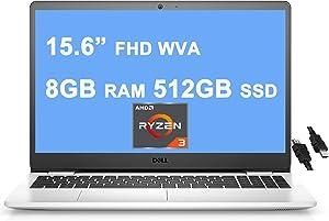 "Dell 2021 Flagship Inspiron 3000 3505 15 Laptop 15.6"" FHD WVA Narrow Border Display AMD Ryzen 3 3250U Processor (>i7-7600u) 8GB RAM 512GB SSD AMD Radeon Graphics Win10 Snow White + iCarp HDMI Cable"" /></a></div> <div class="