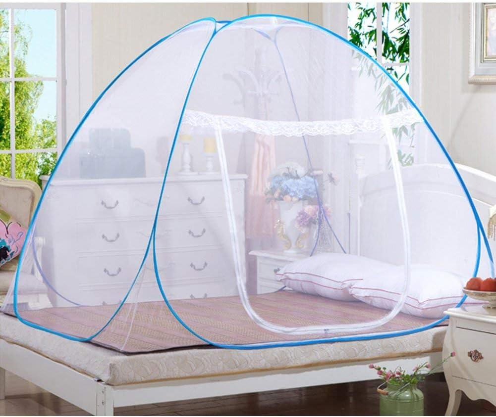 AZITEKE Moustiquaire Portable de voyage Moustiquaire Enti/èrement ferm/é Autonome pliable Moustiquaire Tente Camping Mosquito Rideau 150*200*150cm