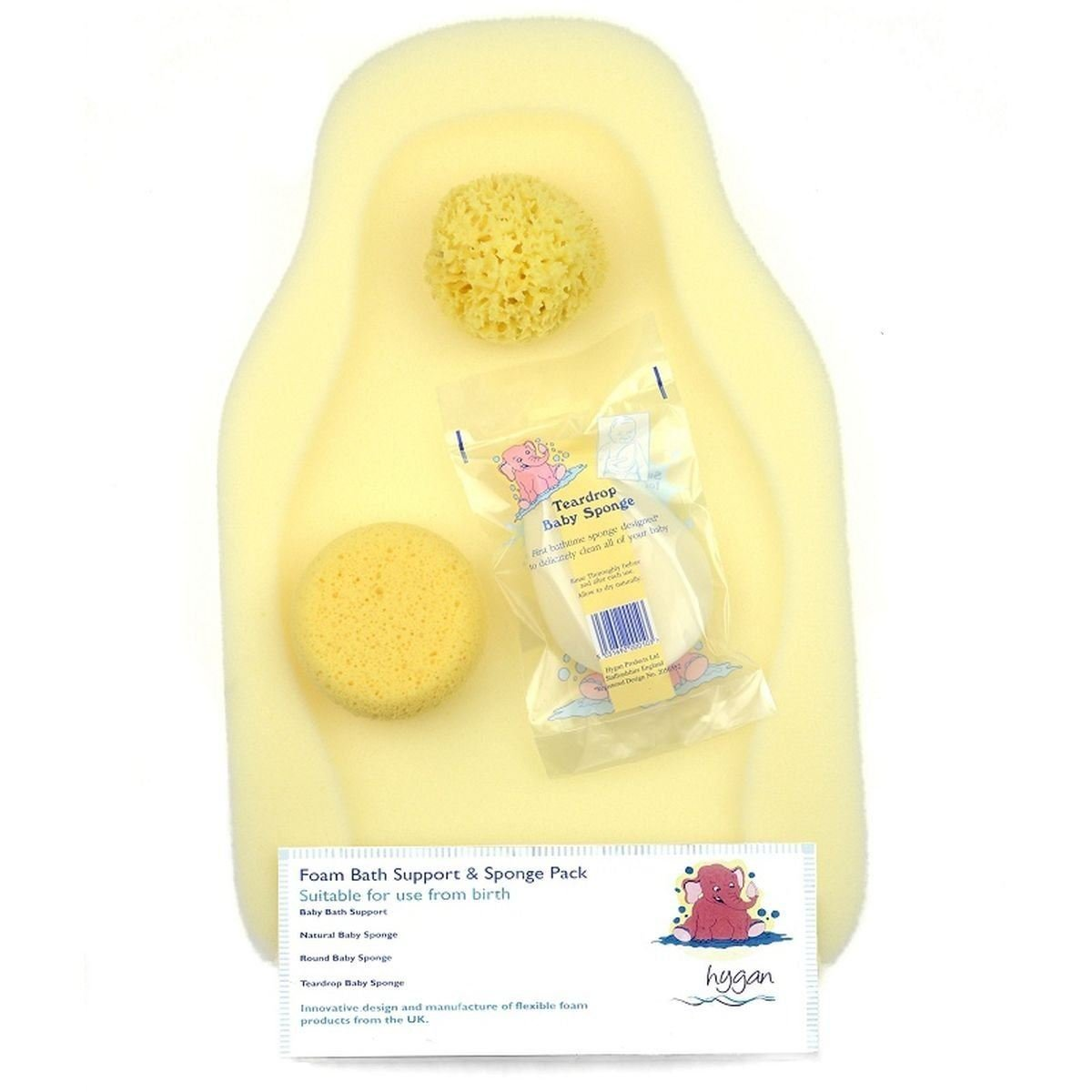 Amazon.com: Hygan Foam Bath Support & Sponge Pack: Health & Personal ...