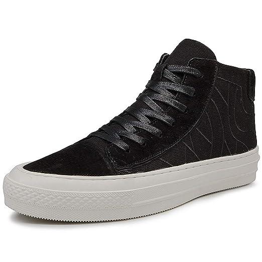 3cda6390c2cad Amazon.com: Hilotu Mens High Top Board Shoes, Casual Anti-slip Flat ...