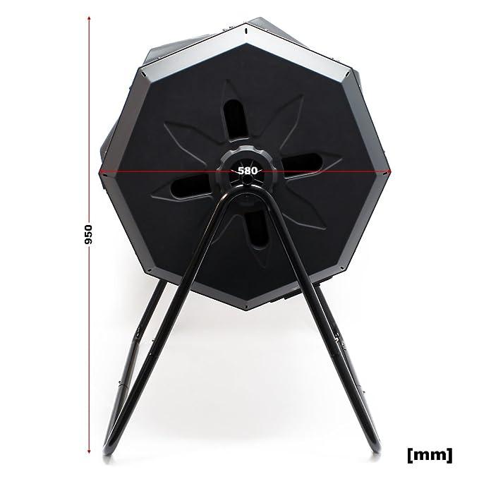 Compostador de tambor de 160 litros giratorio: Amazon.es: Bricolaje y herramientas