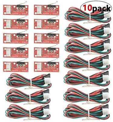 WGCD 10 PCS Endstop Interruptor de límite mecánico con Cable para ...
