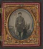 HistoricalFindings Photo: American Civil War,Unidentified Union Soldier,Scabbard,Revolver,Cap Box,c1861