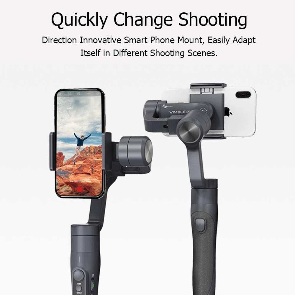 Object Tracking /& Face Tracking VLOG XUNMAIFFE Mini 3-Axis Gimbal Stabilizer for Smartphone Gimbal Handheld with 18cm Long Extension Bar Time-Lapse Intelligent APP