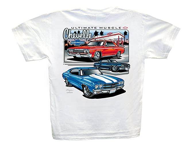 c1cf6aed8 Amazon.com: Hot Shirts Chevelle Ultimate Muscle T-Shirt: - SS Chevrolet 65  67 70 Chevy Z-16 SS396 SS454: Clothing