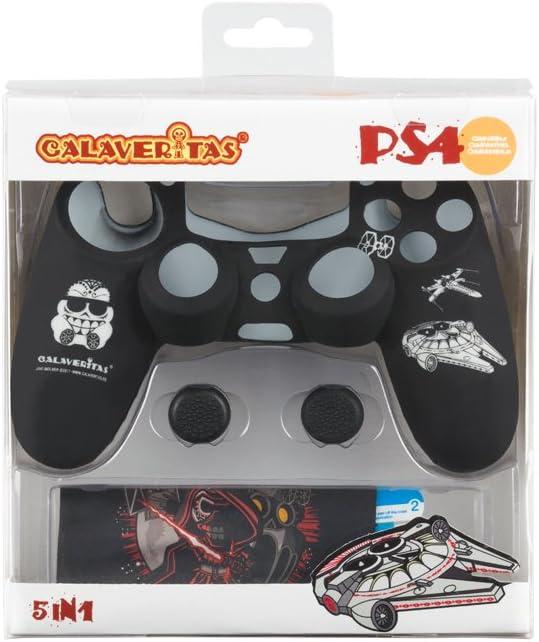 Indeca- Pack de 5 componentes para playstation 4 - PS4 (incluye Silicona para mando) de Calaveritas (modelo Star Wars): Amazon.es: Videojuegos