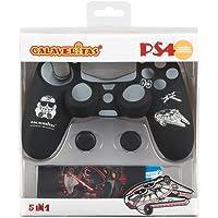 Indeca- Pack de 5 componentes para playstation 4 - PS4 (incluye Silicona para mando) de Calaveritas (modelo Star Wars)