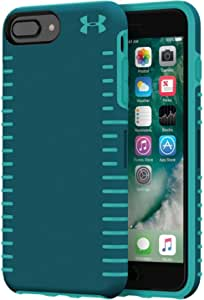Under Armour - UA Protect Grip Case for iPhone 6 Plus, 6s Plus, 7 Plus and 8 Plus - Tourmaline Teal/Desert Sky