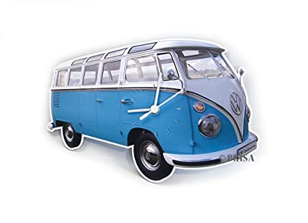 BRISA VW Collection VW T1 Bus Wall Clock 28x18x2,5cm – Classic Blue