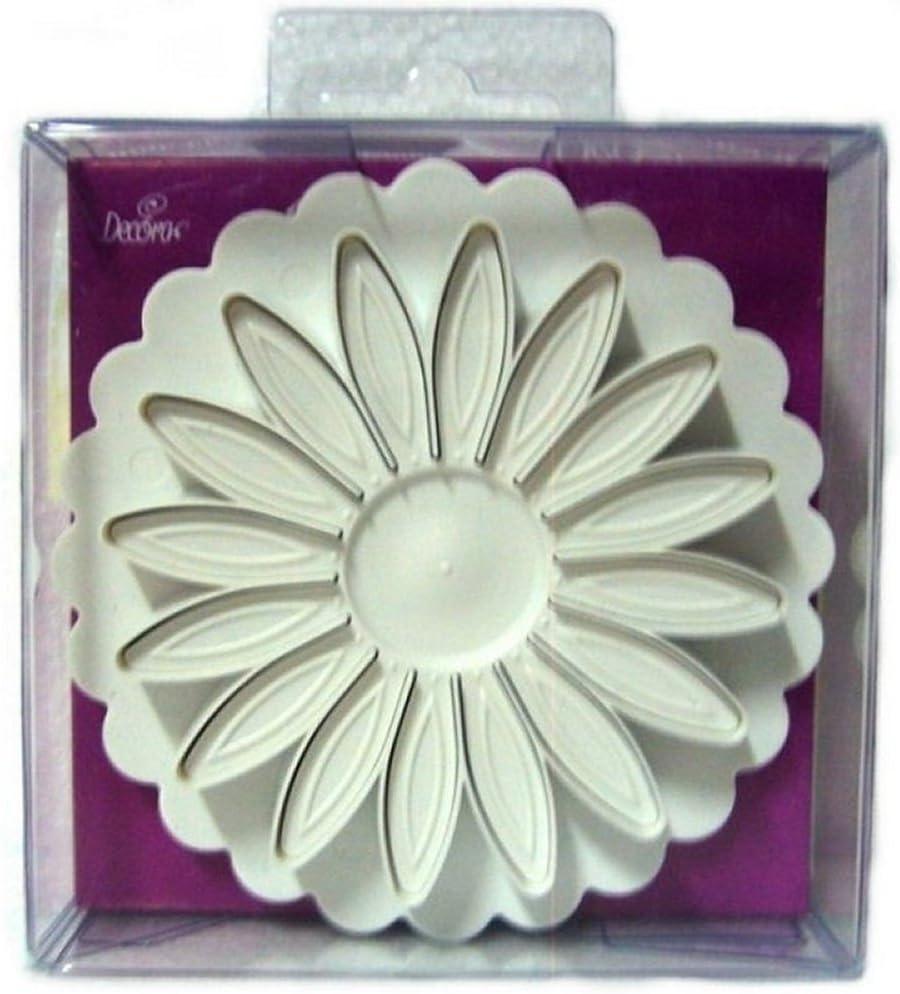 Bianco Decora Stampo ad Espulsione Gerbera Diametro 7 cm Plastica