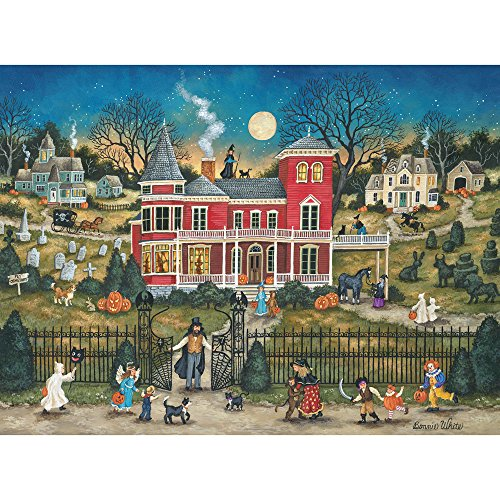 Bits and Pieces - 300 Large Piece Jigsaw Puzzle for Adults - Halloween Mayhem, Halloween - by Artist Bonnie White