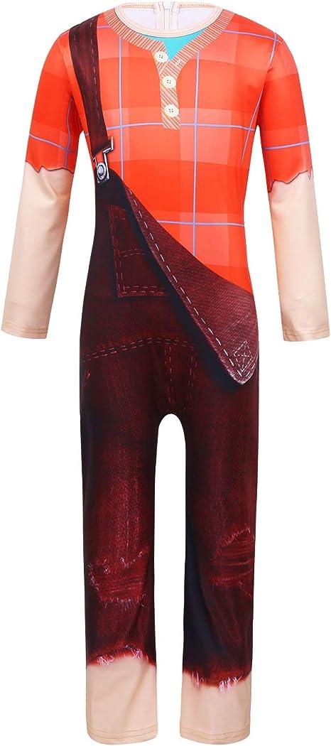 CHICTRY - Disfraz de Ralph para niños de 3 a 10 años, traje entero ...