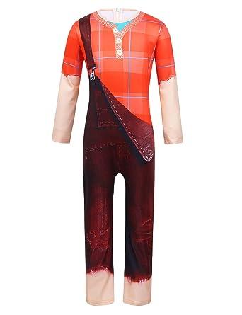 CHICTRY - Disfraz de Ralph para niños de 3 a 10 años, traje ...