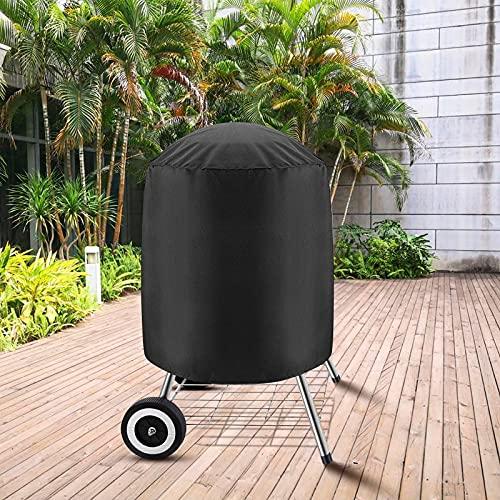 Victarvos Housse pour Barbecues Charbon, Bâche Imperméable pour Barbecue Grill Exterieur, Housse Barbecue Rond 58*77 cm, Noir