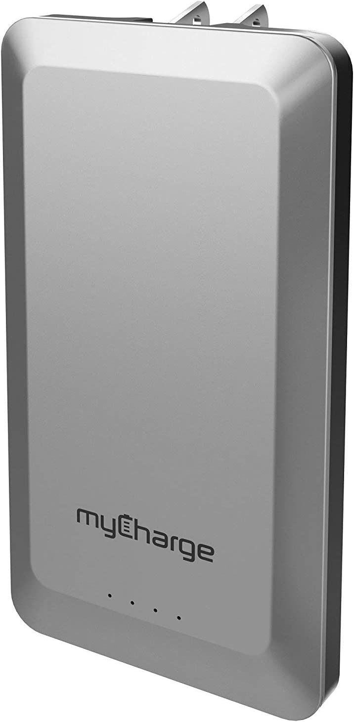 myCharge Portable Charger with Wall Plug - Home & Go Power Bank 4000mAh Internal Battery Bank - External Backup Phone Charging Adapter for Apple iPhone 12, 11, X, 8, iPad, Android for Samsung Galaxy