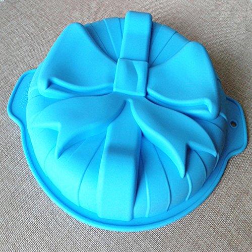 Round Single Bow Silicone Cake Pan Shape Mold Kitchenware Diy Bakeware Creative Decoration