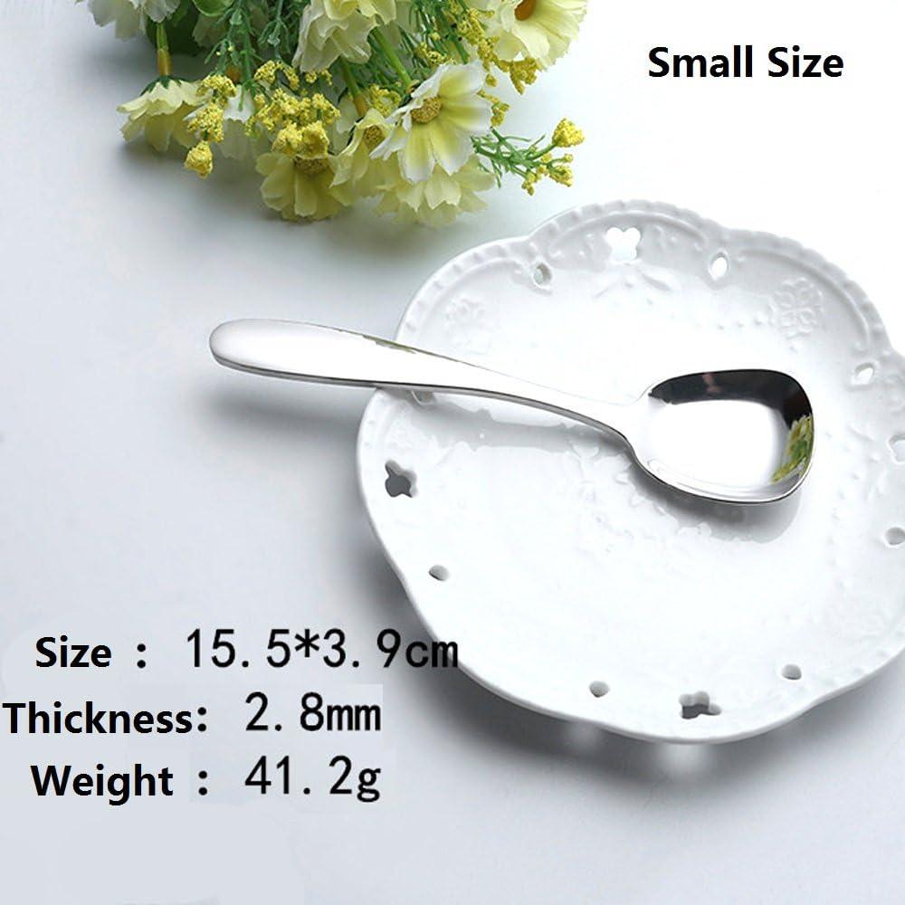 design speciale quadrato per riso set di 3 small da tavola lucidatura a specchio ERCENTURY Cucchiai in acciaio inossidabile