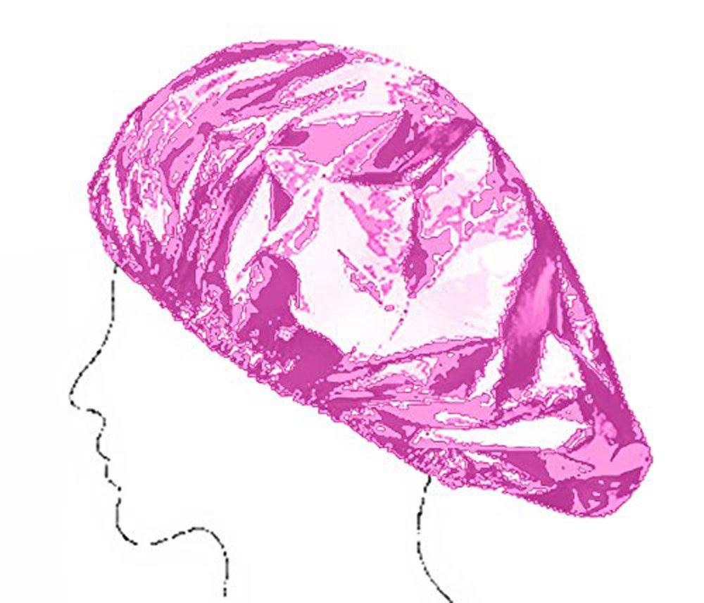 Lots de 2 Bonnets de Douche - 1 Transparent + 1 Rose