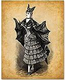Victorian Bat Costume - 11x14 Unframed Bizarre Goth Art Print
