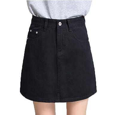 l'atteggiamento migliore 6c1d1 63055 Gonna di Jeans da Donna Mini Gonna Ampia A Vita Alta Gonna ...