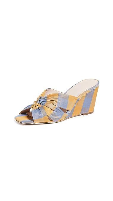 9c493af425942 Amazon.com: Loeffler Randall Women's Sonya Cinched Wedge Sandals: Shoes
