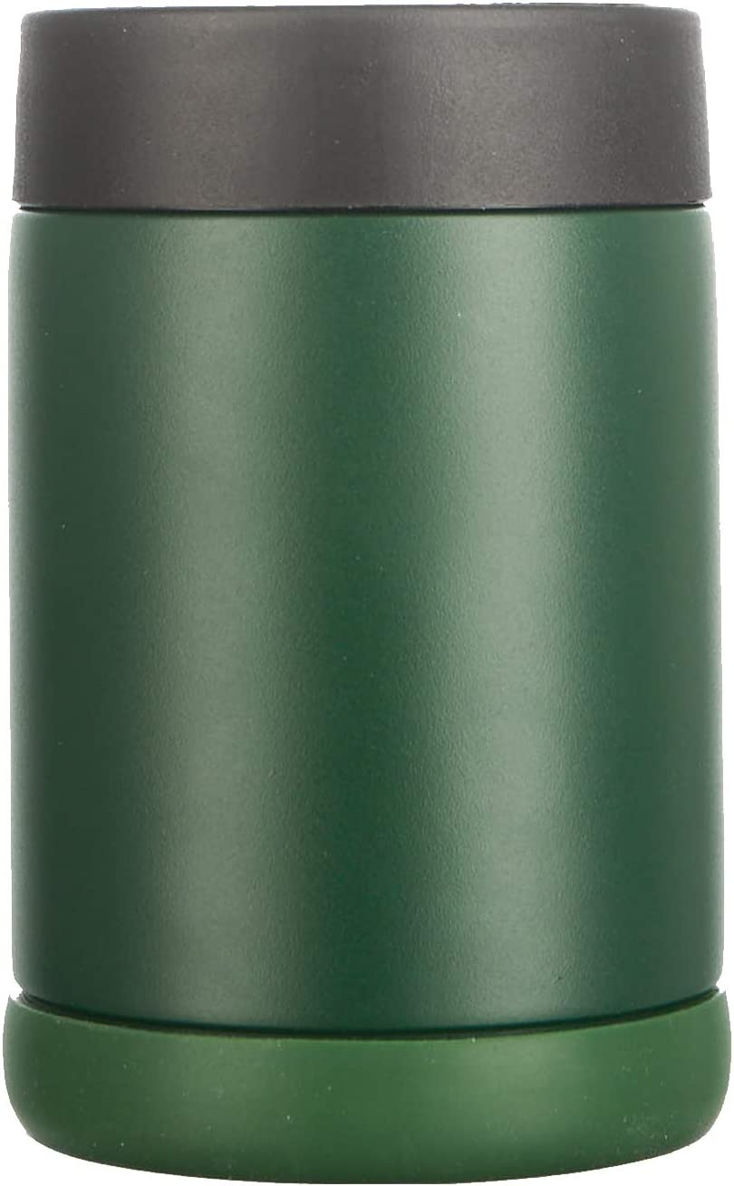 Pretfarver Stainless Can Cooler Double Insulated and Beer Bottle Cooler, 12 Oz Skinny Can Holder for Drink Tumbler Beer Can -Bottle Insulators, Perfect for Tailgating (Green)