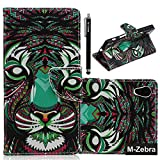 Sony Xperia Z5 Case, Xperia Z5 Case, Z5 Wallet Case, M-Zebra Sony Xperia Z5 Wallet Case [Wallet Function] Flip Cover Leather Case for Sony Xperia Z5,with Screen Protectors+Stylus (Tiger)