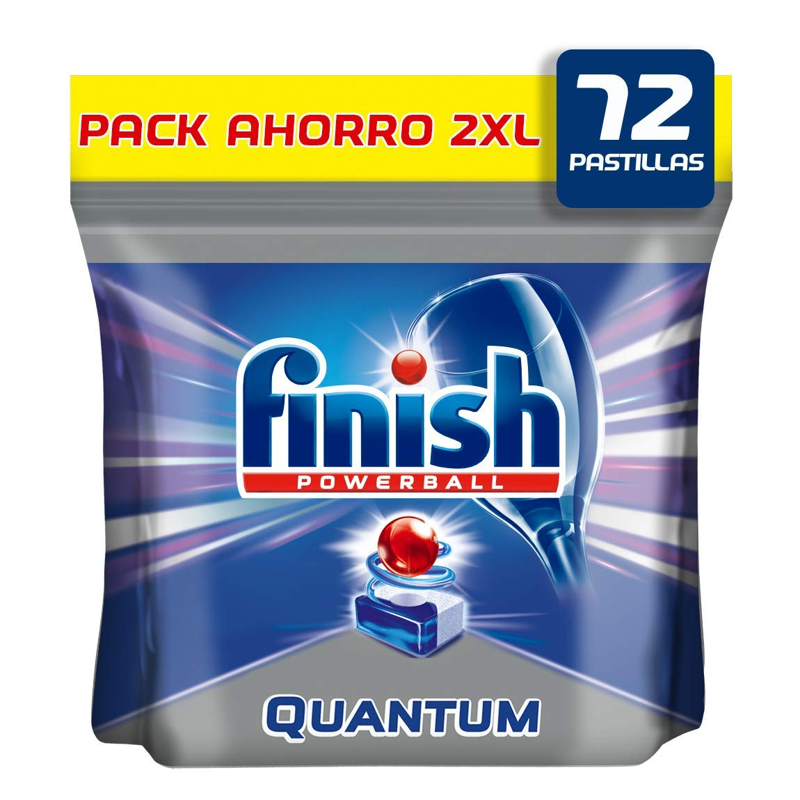 Finish Quantum Pastillas para Lavavajillas Regular - 72 Pastillas ...