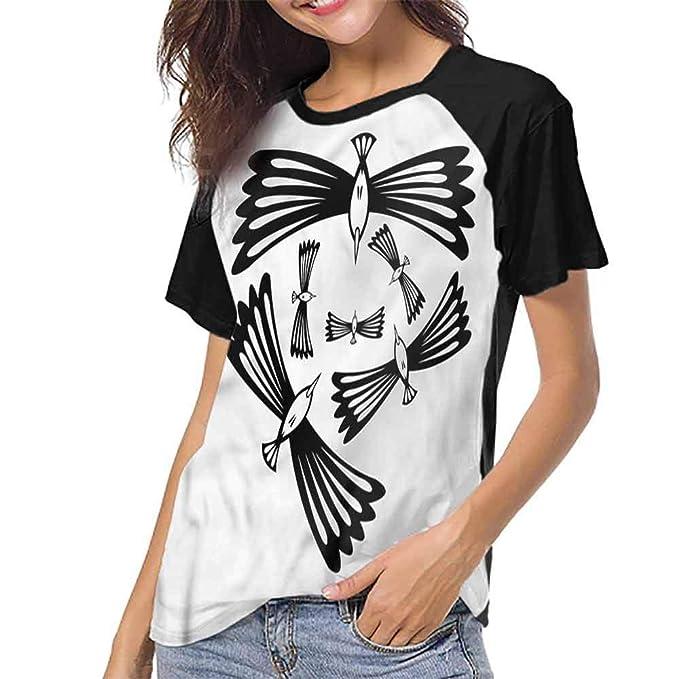 Amazon.com: Raglan - Camiseta de manga corta para mujer ...