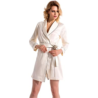 Dormery Fashion Womens New Full Sleeves Arrival Silk Robes Pijamas With Waistband Bathrobes High Length Sleepwear