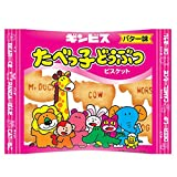 Tabekko Dobutsu 0.6oz 10pcs Box Animal Shaped Butter Biscuits Japanese Ginbis Ninjapo