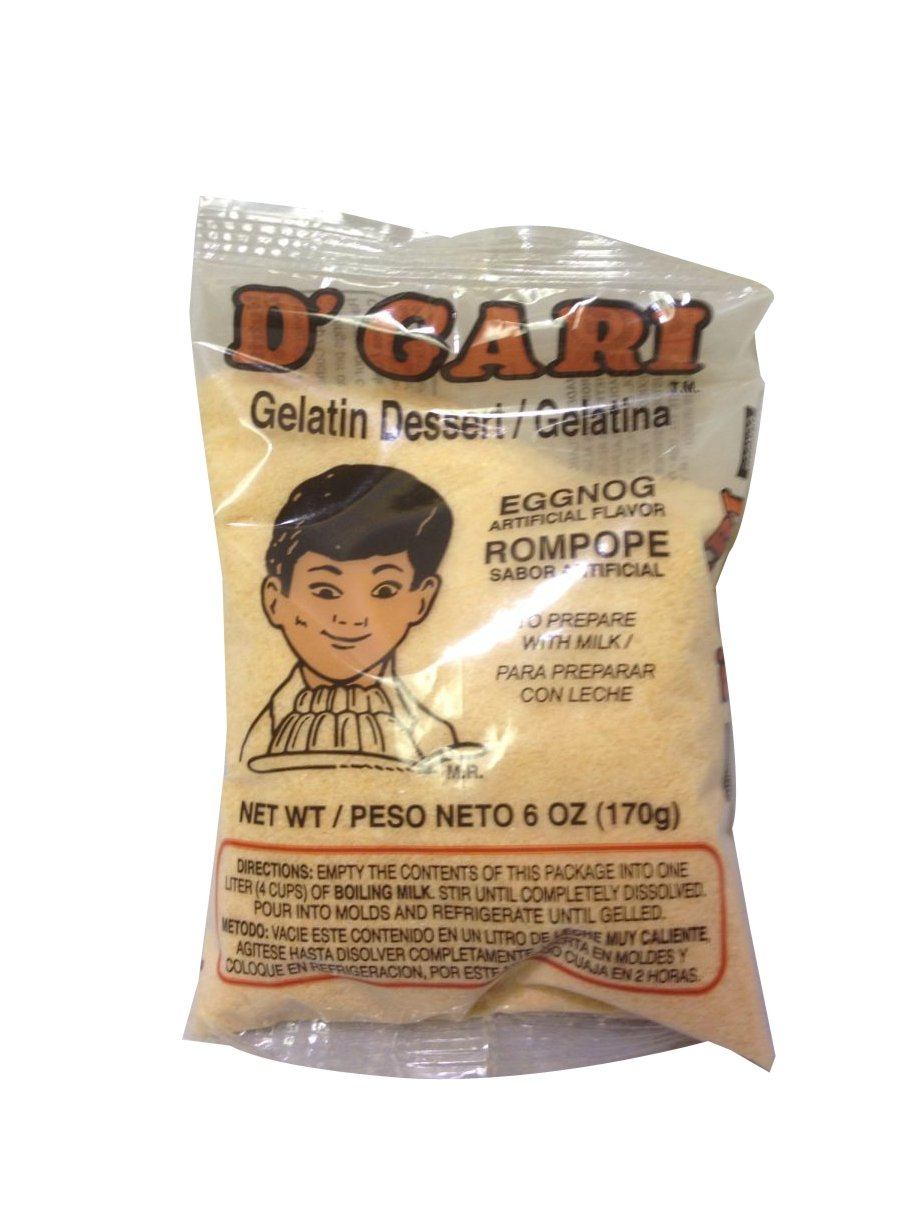 Amazon.com : DGari Eggnog Milk 6 oz : Packaged Snack Gelatins : Grocery & Gourmet Food