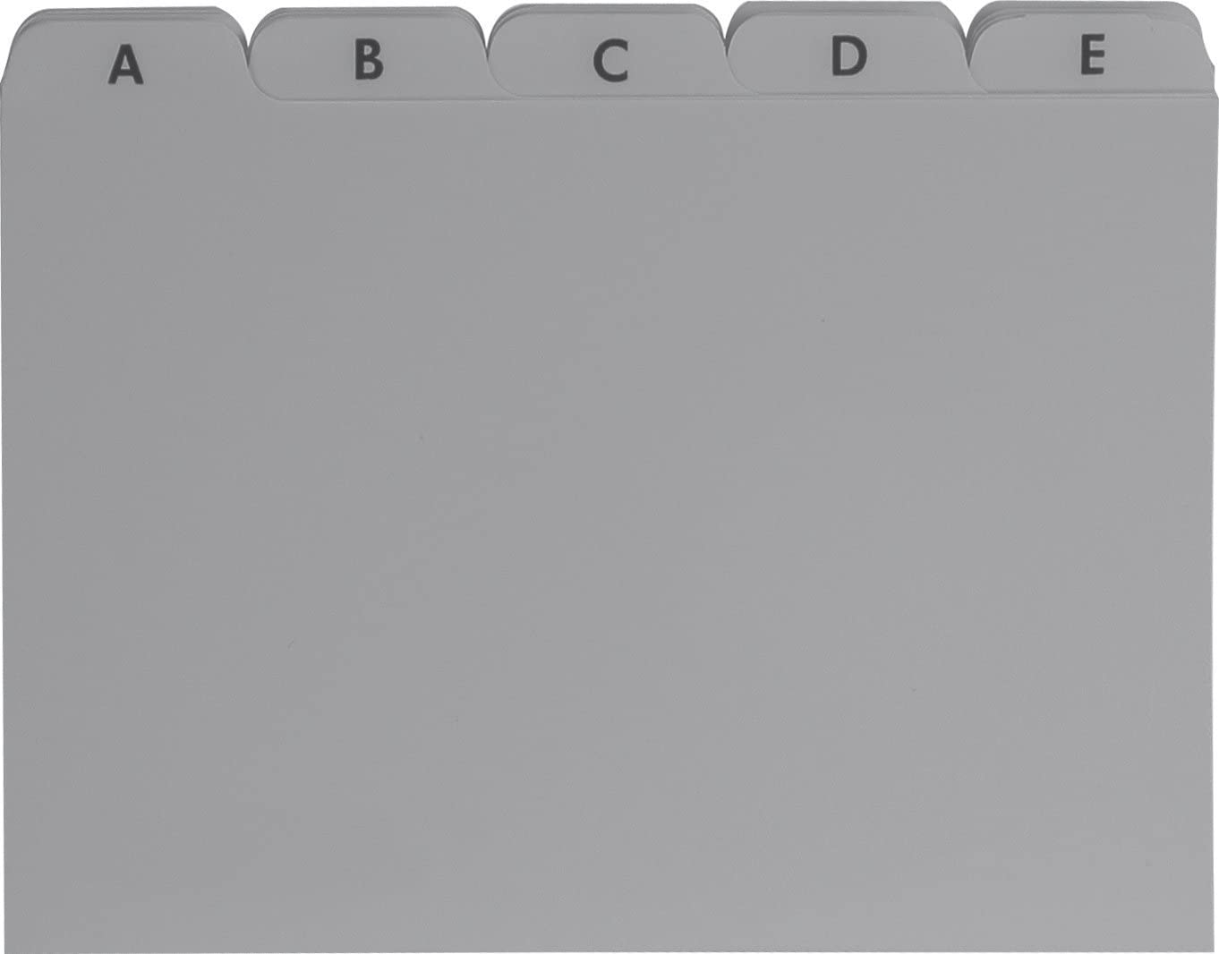 format a7 paysage//gris Karteiregister//a-z fiches tri /«puits/»