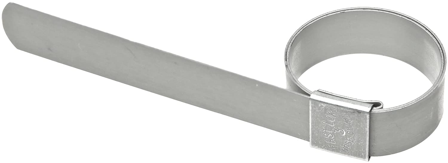 5//8 Band Width Pack of 100 Dixon F4 Galvanized Steel Pre-Formed Center Punch Band Clamp 1 ID