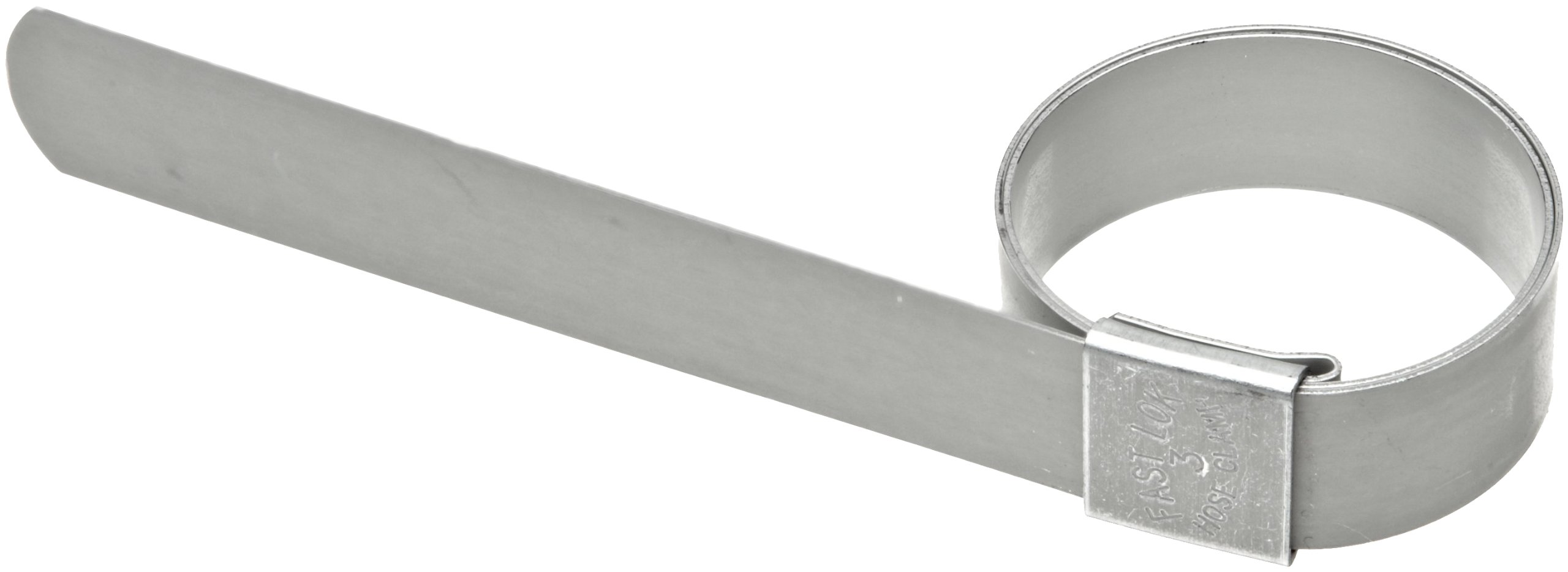 Dixon F5 Galvanized Steel Pre-Formed Center Punch Band Clamp, 5/8'' Band Width, 1-1/4'' ID (Pack of 100)