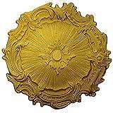 Ekena Millwork CM16PLRGS Plymouth Ceiling Medallion, Rich Gold