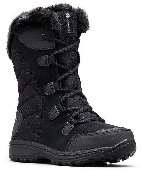 Columbia Women's ICE Maiden II Snow Boot, Black, Grey, 6 B US