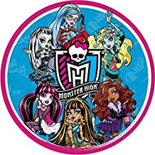 Monster High Round Edible Image Photo Cake Topper Sheet Birthday Party - 8 Inches Round - 10131