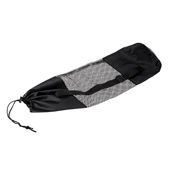 perfk Universal Yoga Mat Bag Pilates Adjustable Strap Carrier Gym Fitness  Backpack - Black  Amazon.co.uk  Sports   Outdoors 21e85c2983f5a