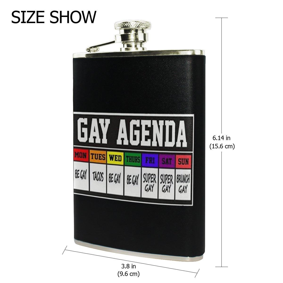 Gay Agenda - Petaca portátil para hombre, botella de vino ...